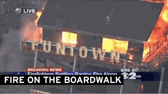 """Unthinkable"" Fire Destroys 4 Blocks of Rebuilt Jersey Shore Boardwalk"