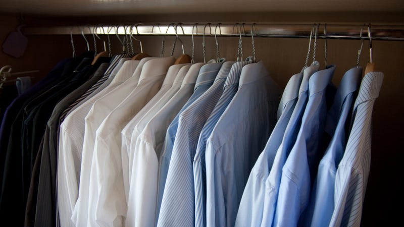 Sit Down When Trying on Dress Shirts for a Better Fit