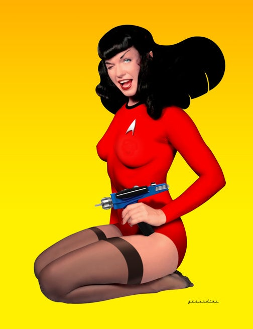 Mystery Huge Box Hint #1: Betty and Her Phaser
