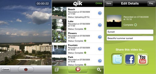 Qik Video Sharing Application Now Available for iPhone 3GS