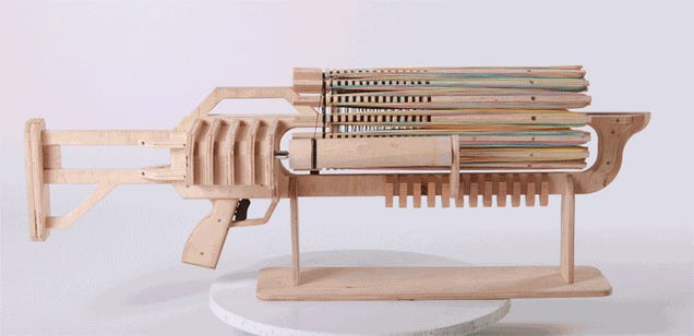 Rubber Band Gatling Gun Fires 672 Rounds In 48 Seconds