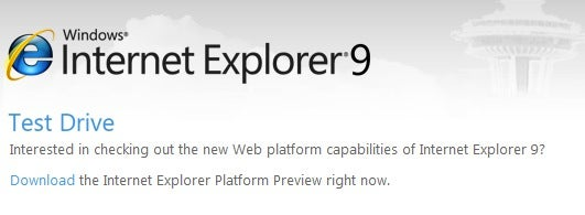 Internet Explorer 9: A Fresh Start, With HTML5