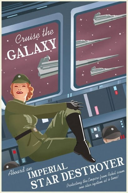 Luxury travel posters from a galaxy far, far away