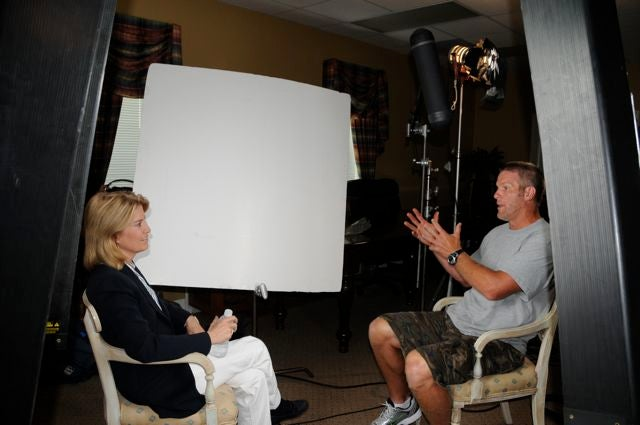 Why Is Brett Favre Talking To This Woman?