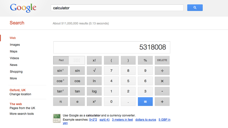 Calc.exe Is Dead, Long Live Google's Calculator