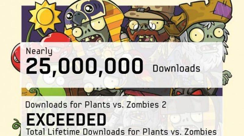Plants vs. Zombies 2 Already Beat the Original's Lifetime Downloads