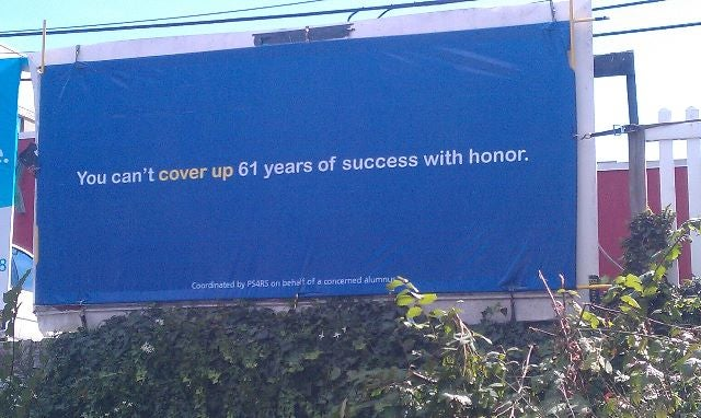 What The Hell Is This Billboard At Penn State Trying To Say?