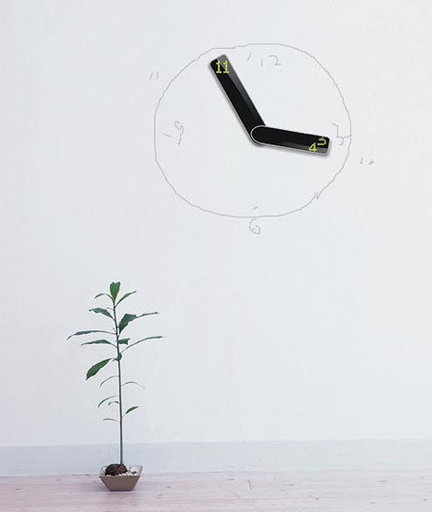 """Vice Versa"" Digital Clock Only Needs Its Hands To Serve You"