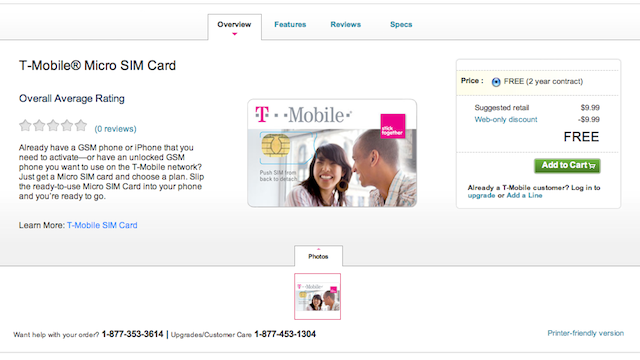 T-Mobile Is Offering Micro SIM Cards So Their Customers Can Use the iPhone 4