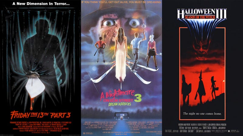 Three Part 3s: Friday the 13th Part 3, A Nightmare on Elm Street 3: Dream Warriors and Halloween III: Season of the Witch