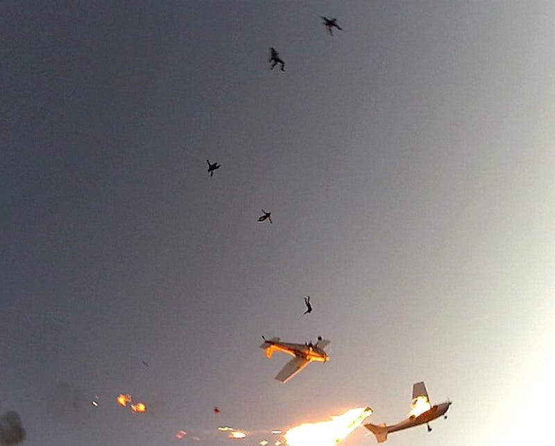 Skydivers Capture Amazing Video of Terrifying Mid-Air Plane Collision