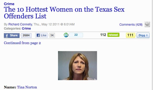 """Paper Pseudo-Apologizes For """"Hottest Female Sex Offenders"""""""