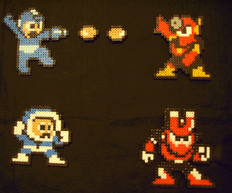 Gizmodo Giveaways Gets Crafty with Fused Bead Video Game Art