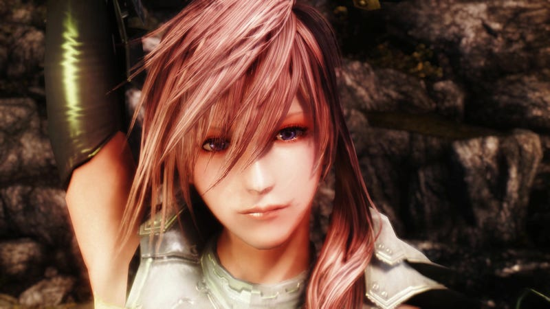 Final Fantasy XIII's Lightning Reborn in a Skyrim Mod