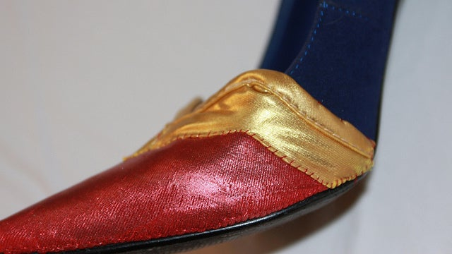 Make your own superhero heels and walk a mile in Wonder Woman's shoes