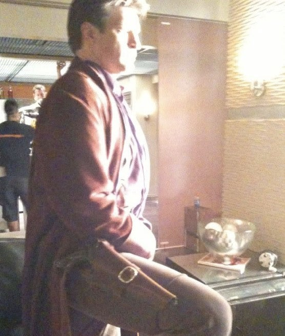 Nathon Fillion Dons The Browncoat One Last Time Before Slipping Into A Cape?
