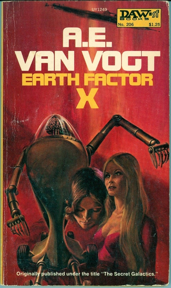 A collection of vintage XXX covers from science fiction