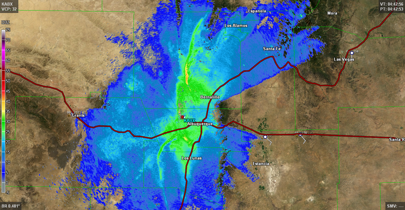 Radar Shows Millions of Locusts a Mile Deep in the Air Over New Mexico