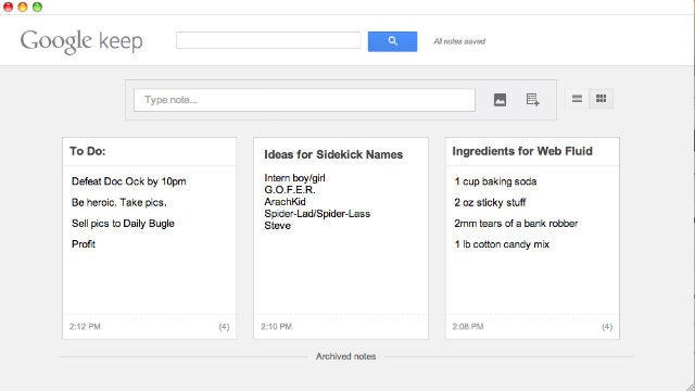 Google Keep Gets Its Own Chrome App for Standalone Note-Taking