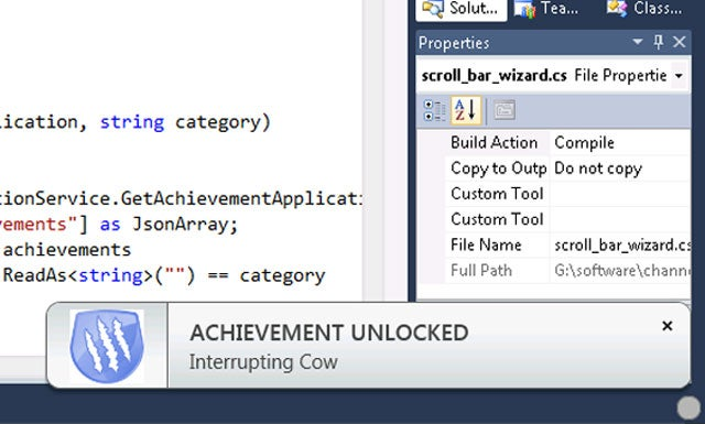 Microsoft now has Achievements for...Developers