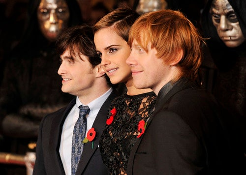 Harry, Hermione and Ron Clean Up Nice