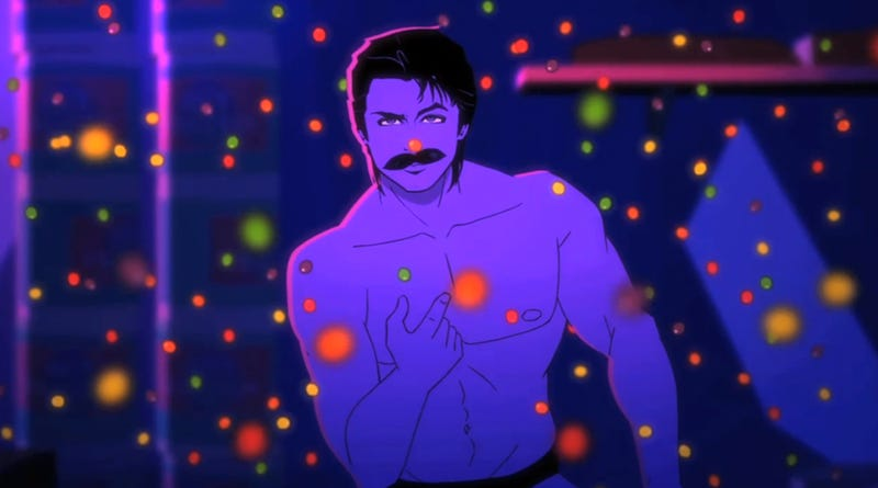 Rob Lowe Manifests as 80's Nagel Hunk in Moonbeam City