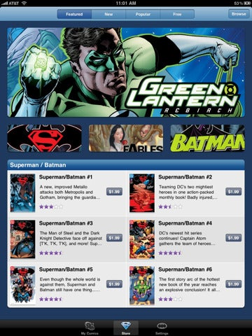 DC Comics's iPhone/iPad App Arrives in the App Store, Finally