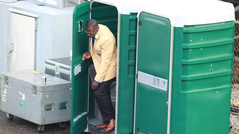 Shannon Sharpe Looks More Bad-Ass Leaving A Port-A-Potty Than Anyone Else Does
