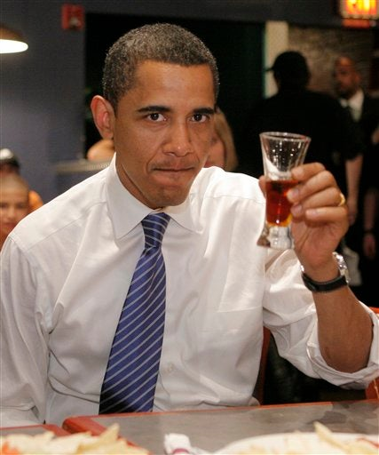 Barack Obama Doesn't Look Too Psyched About That Beer