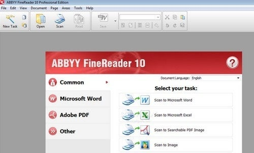 Best Text Recognition Tool: ABBYY FineReader