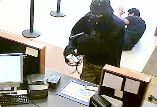 Guy In a Darth Vader Costume Holds Up Bank