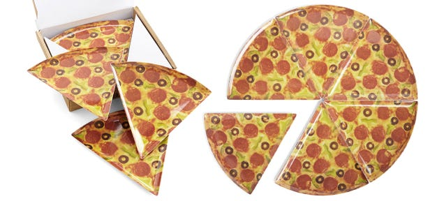 Pizza Slice Pizza Plates Are a Classier Way To Serve Pizza Pie