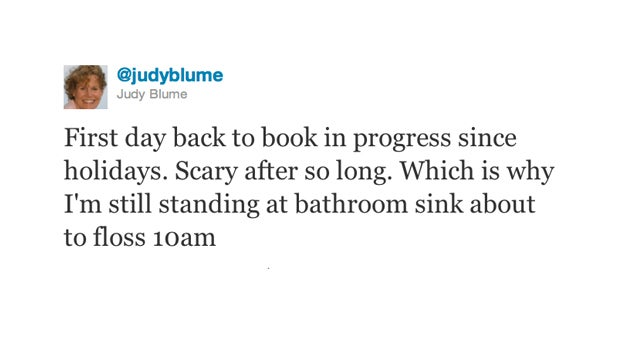 Judy Blume is Charming Even While Procrastinating
