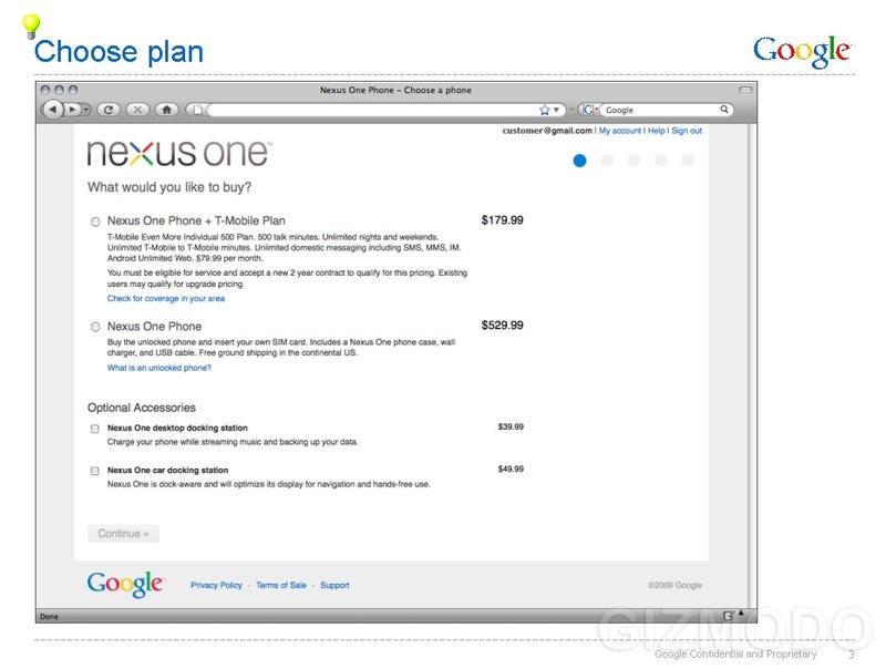 Leaked Nexus One Documents: $530 Unlocked, $180 With T-Mobile