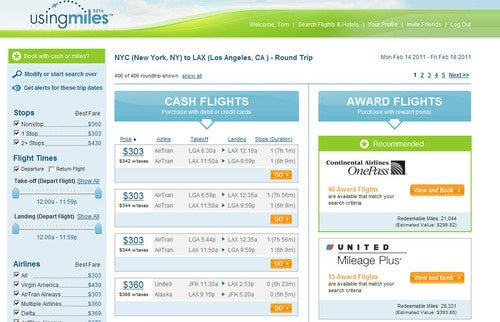 UsingMiles Organizes Your Frequent Flier Miles for Easy Use