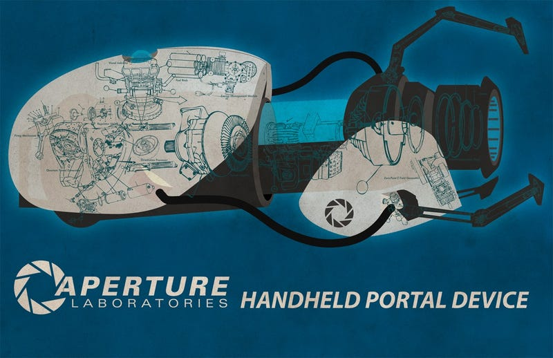 Check out the insides of a Portal gun