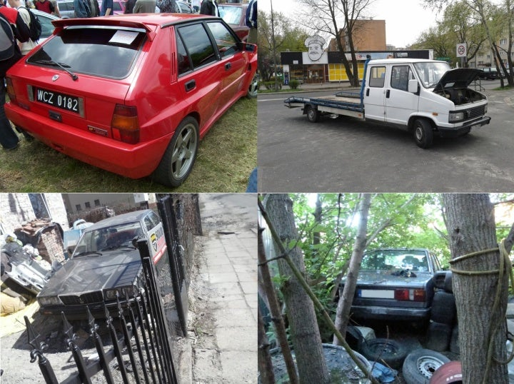 Italian cars living and dying in Poland