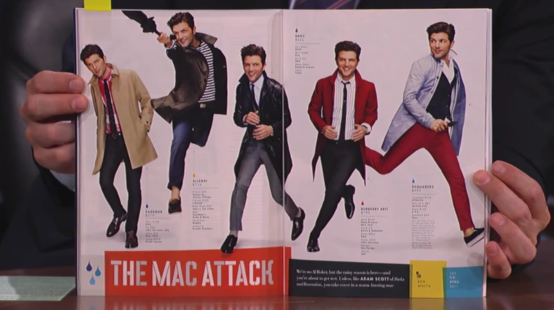 Jimmy Kimmel Gives Adam Scott a Hard Time About His GQ Fashion Spread