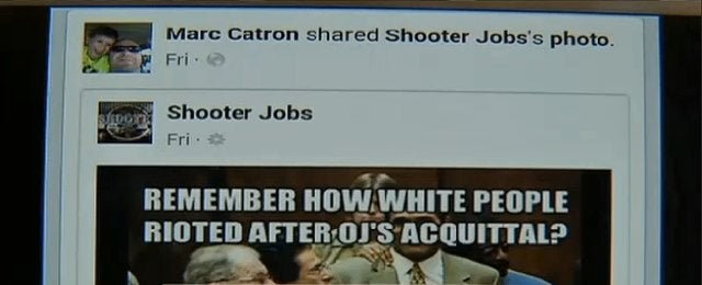 Racist Idiot Cop Investigated for Michael Brown Facebook Posts