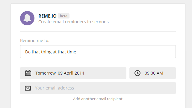 Reme.io Sends You (and Others) Email Reminders on a Schedule