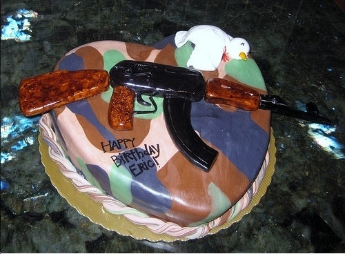 Check Out the Trump Kid's Psycho Machine Gun Cake