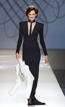 51-Year-Old Gallic Supermodel Walks For Gaultier