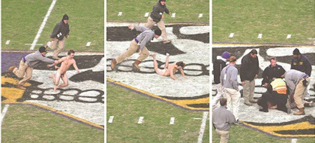 College Streaker Falls on Penis, Causes Controversy