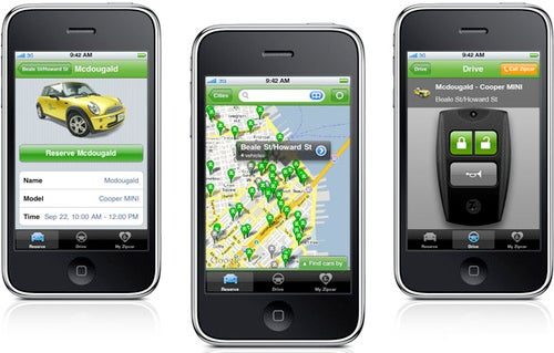 Zipcar iPhone App Finds and Reserves a Car-Share Nearby