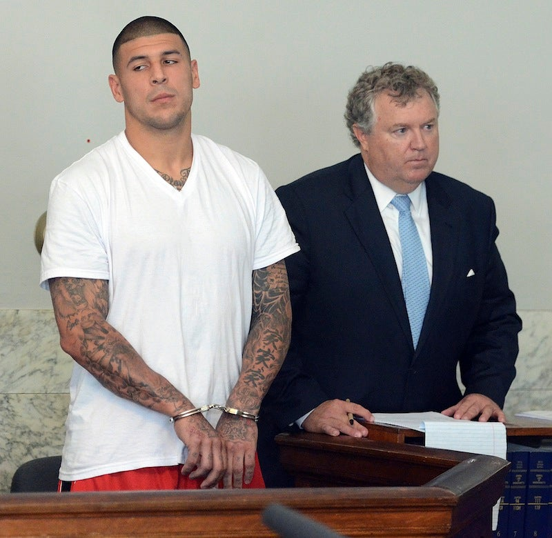 Reports: Hernandez Under Investigation For Role In 2012 Double-Murder