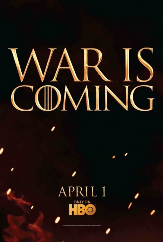 New Game of Thrones Poster Promises War!