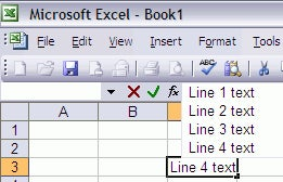 Excel Tip: Wrap text as you type with Alt-Enter