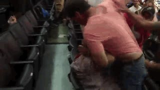 Old Clippers Fan Mauls Young Clippers Fan In Brawl During Game
