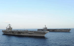 Two Supercarriers Side By Side Look Awesome, Are Bad News