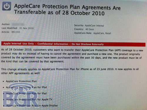 All AppleCare Protection Plans Are Now Transferable